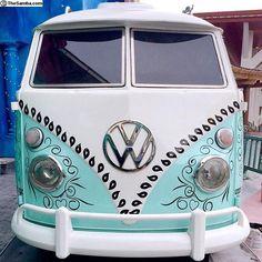 cool paint ☮ #VWBus bus/