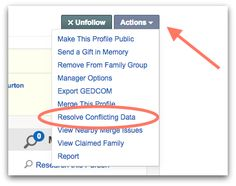 Geni Tips: Resolve Conflicting Data After a Merge