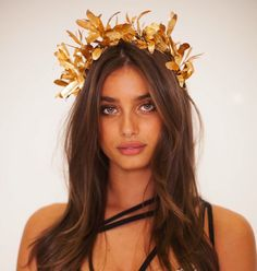 Taylor Hill Wearing the olive leaf crown I made for her