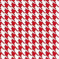 "Red Houndstooth Gift Wrap,  (18'x24"").  Made in USA.  Printed on Recycled Paper."