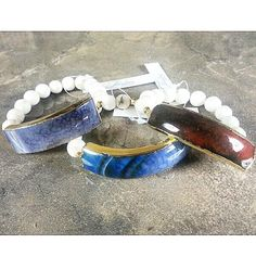 New to #Fabulina: #Agate bar #bracelets!! #musthave #fabulinastyle #armswag #armgame #armparty #armcandy #Pictures #wristswag #wiwt #ootd #fashion #style #mystyle #handmadejewelry