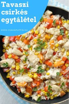Egyszerű, gyors ebéd csirkemellből. Meat Recipes, Chicken Recipes, Healthy Recipes, Always Hungry, I Foods, Food To Make, Food Porn, Food And Drink, Yummy Food