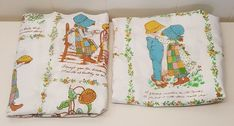Holly Hobbie Twin Sheet Set Flat Fitted Cutters Fabric Material Project