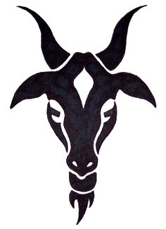 goat design tattoo