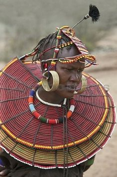 Married Pokot woman with traditional beaded ornaments