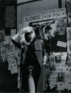 Vogue Paris September 2009, Raquel Zimmermann as Deborah Harry