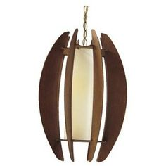 Danish Style Pendant Light with wood accents | VandM.com - Polyvore