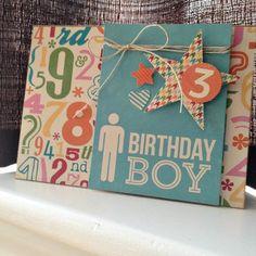 Birthday Boy Card by Kristine Davidson via Jillibean Soup Blog