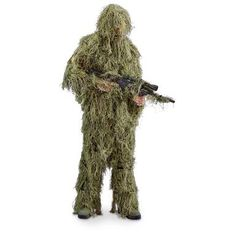 Sportsman's Guide has your Guide Gear Men's Piece Full Body Ghillie Suit available at a great price in our Camo Overalls & Coveralls collection Ghillie Suit, Rain Suit, Camouflage Jacket, Hunting Jackets, Woodland Camo, Paintball, Carhartt, Full Body, Gears