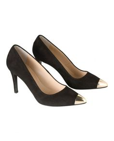 The Kooples Court shoes with gold-tone metal toe cap