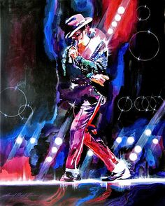 Michael Jackson Moves Print By David Lloyd Glover