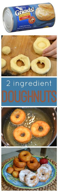 What could be more fun on Saturday morning that making these simple doughnuts from refrigerated biscuits. They are light, fluffy and amazing!