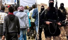 ISIS fighters and refugees