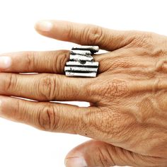 """Sterling silver """"Half Square"""" ring #jewelry #artwork #contemporaryjewelry #sculpture #photography #Silver"""
