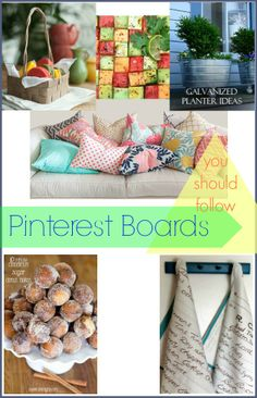 Pinterest Boards you will want to follow!