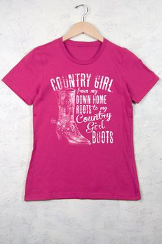 Country Girl Store - Women's Country Girl® Down Home Roots Tee, $19.00 (http://www.countrygirlstore.com/womens/short-sleeve-tees/country-girl-down-home-roots-tee/)