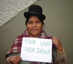 'Give us a dignified life.' From: Jesusa in Bolivia/HelpAge International.