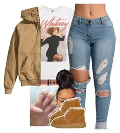 """""""."""" by renipooh ❤ liked on Polyvore featuring And Finally, H&M and UGG"""