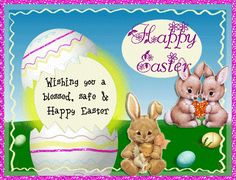 A cute bunny card to wish family and friends a happy and blessed Easter. Free online A Very Blessed Easter ecards on Easter Happy Easter, Easter Bunny, Easter Eggs, Thank You Wishes, Thank You Cards, Easter Ecards, Family Wishes, Name Cards, Cute Bunny