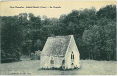 Not a shed in a field at St Ceneri Le Gerai. http://www.normandythenandnow.com/the-many-legends-of-saint-ceneri-le-gerei/