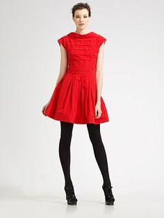 Zac Posen - Quilted Silk Taffeta Mini Dress - Saks.com