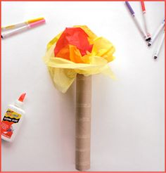 kid olympic torch, this is a great website for kid olympics ideas.