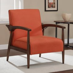 Gracie Rust Retro Arm Chair - Overstock™ Shopping - Great Deals on Living Room Chairs