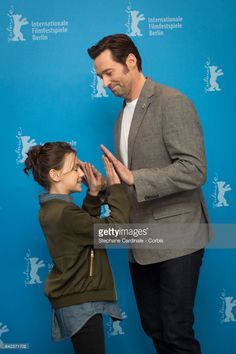 Actors Dafne Keen and Hugh Jackman attend the 'Logan' photo call during the 67th Berlinale International Film Festival Berlin at Grand Hyatt Hotel on February 17, 2017 in Berlin, Germany.