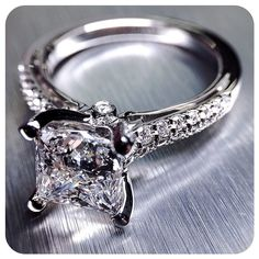 Hip to be square. See more of the Couture-0382P at Verragio.com ~ Engagement rings by @Verragio  #sparkles