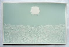 Soft and calming screen print.