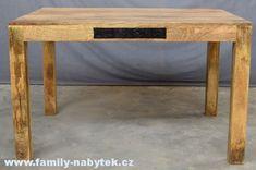 MANGO dřevěný jídelní stůl, masiv mango (DOPRAVA ZDARMA) > varianta 120 x 90 x 76 cm