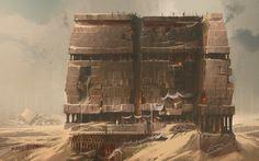 ArtStation - Fort Elevation, Lucas Helmintoller