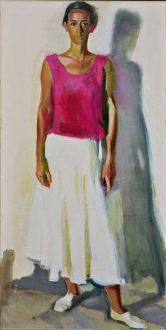 Standing girl | Panayiotis Tetsis - WikiPaintings.org