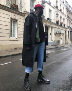 Hypeflaw shares his Autumnal style with us in the Church boot. Black Men Street Fashion, Big Men Fashion, Urban Fashion, Look Fashion, Autumn Fashion, Dr. Martens, Dr Martens Men, Urban Style Outfits, Casual Outfits