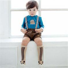 Soft Cartoon Striped Knee High Socks for Baby and Toddler Striped Knee High Socks, Thigh High Boots Heels, Heel Boots, Boys Socks, Emo Dresses, Sock Animals, Baby Design, Cute Cartoon, Kids Girls