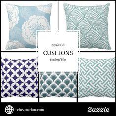AnyTownArt Cushions | Shades of Blue