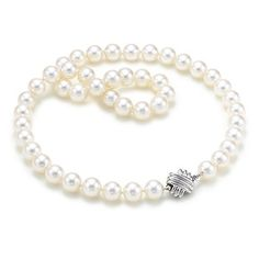 Tiffany Signature™ necklace of freshwater cultured pearls with 18k white gold.