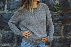 The Autumn League Pullover is a crewneck raglan sweater that evokes memories of Friday night football games, crisp fall evenings, and a general sense of nostalgia. The doubled ribbed neckband, v-insert neck triangle, an Crochet Patterns Free Women, Knitting Patterns Free, Knit Patterns, Free Pattern, Sweater Patterns, Knitting Kits, Knitting Stitches, Free Knitting, Knitting Projects
