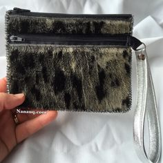 Double Zip Spotted available thru my etsy shop: Www. Seals, Arctic, Hand Sewing, My Etsy Shop, Bling, Zip, Purses, Crafts, Shopping