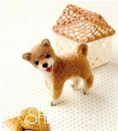 DIY handmade Japanese Felt Wool Dog Kit Package  by MeMeCraftwork, $20.00