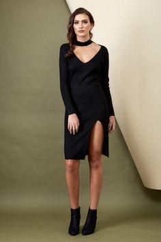 Love Struck Knit Dress Black   Morrisday   The Label