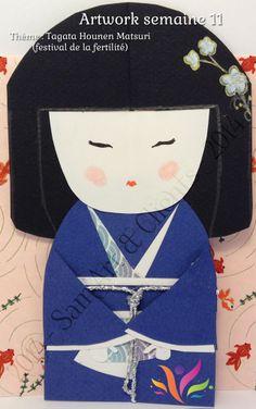 """Voici l'artwork de cette semaine, une représentation de poupée kokeshi, représentant la fertilité de l'imaginaire et de la création. """"J'incarne l'imagination et la créativité.  Tu libères l'abondance de mon esprit en nourrissant la graine de l'imagination qui est au cœur de la création. Fais de ton imagination une source d'inspiration afin de partager avec le monde entier l'abondance infinie de ton esprit."""""""