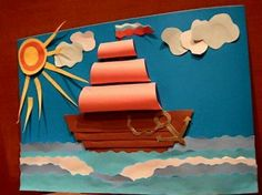 February 23 craft: 14 thousand pictures Paper Crafts For Kids, Projects For Kids, Diy For Kids, Sea Crafts, Diy And Crafts, Arts And Crafts, Art N Craft, Craft Stick Crafts, Summer Crafts
