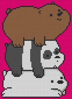 Cross Stitch Pattern Maker, Cross Stitch Art, Cross Stitch Animals, Cross Stitch Patterns, Animal Sewing Patterns, Alpha Patterns, Hamma Beads Ideas, Pearl Beads Pattern, Pixel Art Grid
