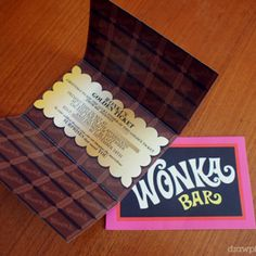 Willy Wonka Party.... Gotta have the Golden Ticket!