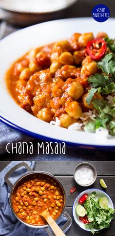 Vegan chana masala - This is really tasty done in the #instantpot. Chuck all ingredients in and cook for 1 minute on manual under pressure with NR. Really nice with a drissle of tahini on top for creaminess