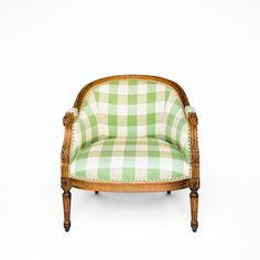 Green Gingham Chair , Adore.