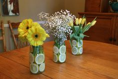 lemon filled centerpieces | Mason Jar Shower | Give Everybody Nice Sweaters