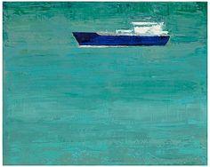 """Ultramarine Aquamarine Revisited"" by Suzy Barnard, available at Serena & Lily. #serenaandlily"