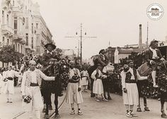 Local Spanish fiestas in traditional costumes wearing espadrilles, early 20th Century